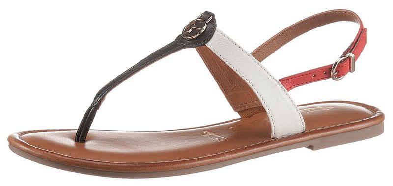 Tamaris »TOFA« Sandale mit goldfarbenen Logo-Emblem