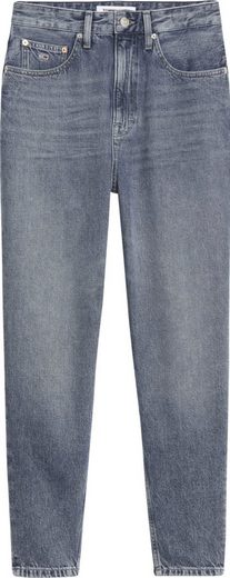 Tommy Jeans Mom-Jeans »MOM JEAN UHR TPRD CBGRR« mit Tommy Jeans Loog-Badge