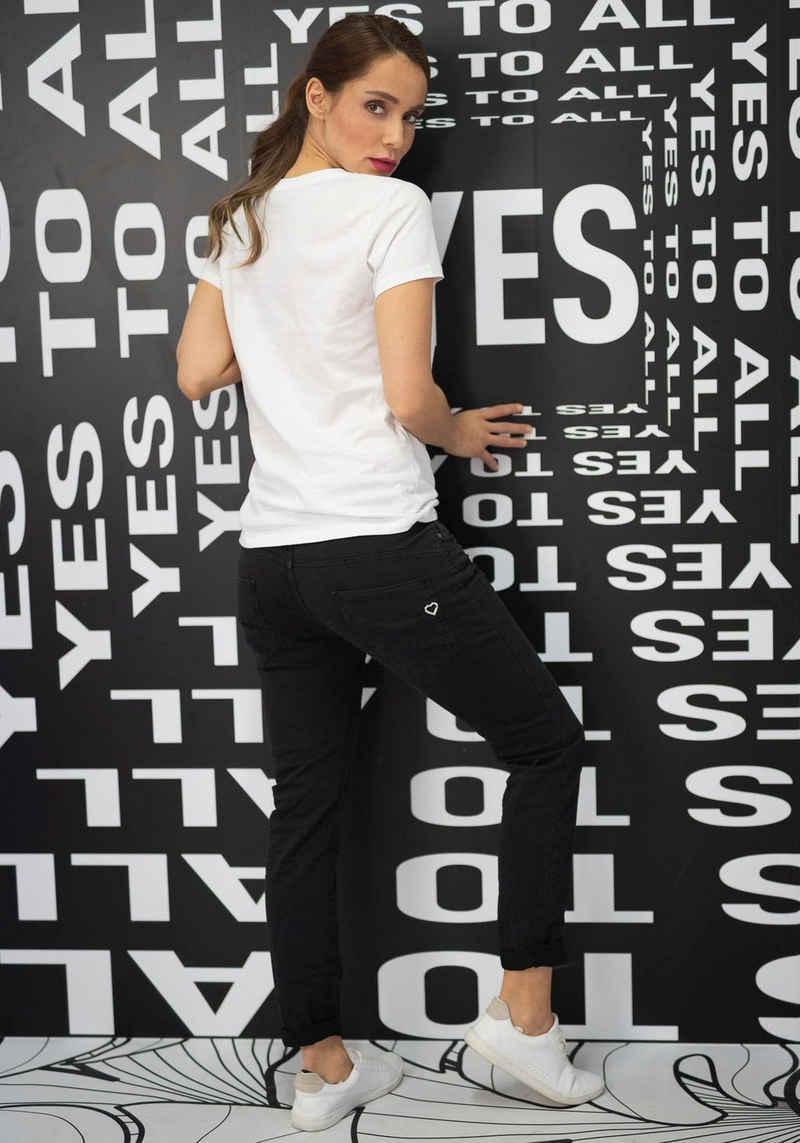 Please Jeans 5-Pocket-Jeans »P78A« lässige Boyfriend Jeans in leichter Crinkle Optik und krempelbarem Bein