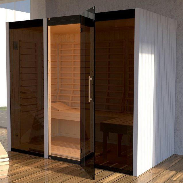 Saunen und Zubehör - weka Infrarotkabine »Sintra Gr. 2«, BxTxH 212 x 125 x 190 cm, 68 mm  - Onlineshop OTTO