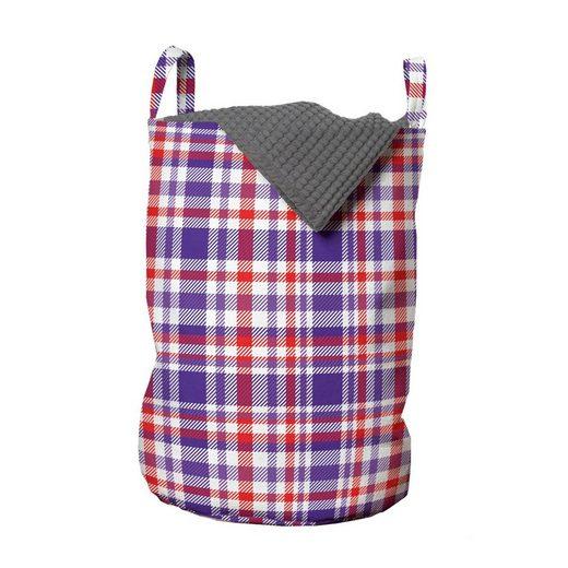 Abakuhaus Wäschesack »Wäschekorb mit Griffen Kordelzugverschluss für Waschsalons«, Schottenkaro Abstrakt Bicolor Checkered