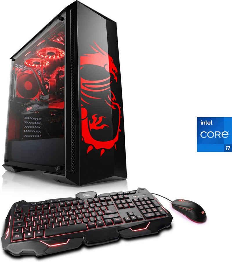 CSL HydroX V7110 MSI Dragon Advanced Edition Gaming-PC (Intel® Core i7 11700F, 16 GB RAM, 1000 GB HDD, 500 GB SSD, Wasserkühlung)