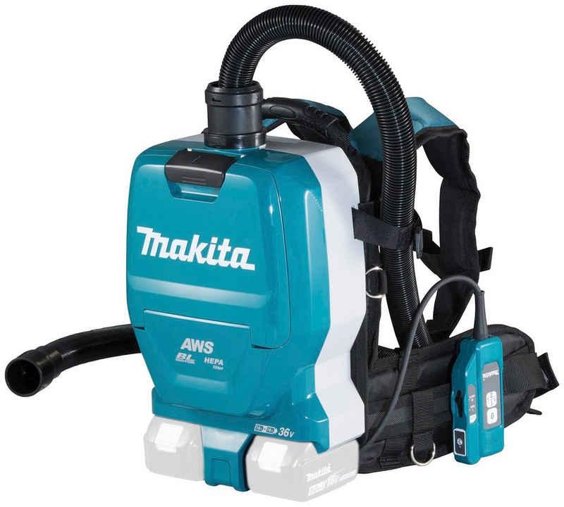 Makita Akku-Bodenstaubsauger DVC265ZXU, mit Beutel, 18 V, Rucksack, ohne Akku und Ladegerät