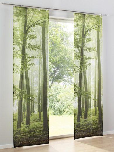 heine home Schiebevorhang mit Waldmotiv