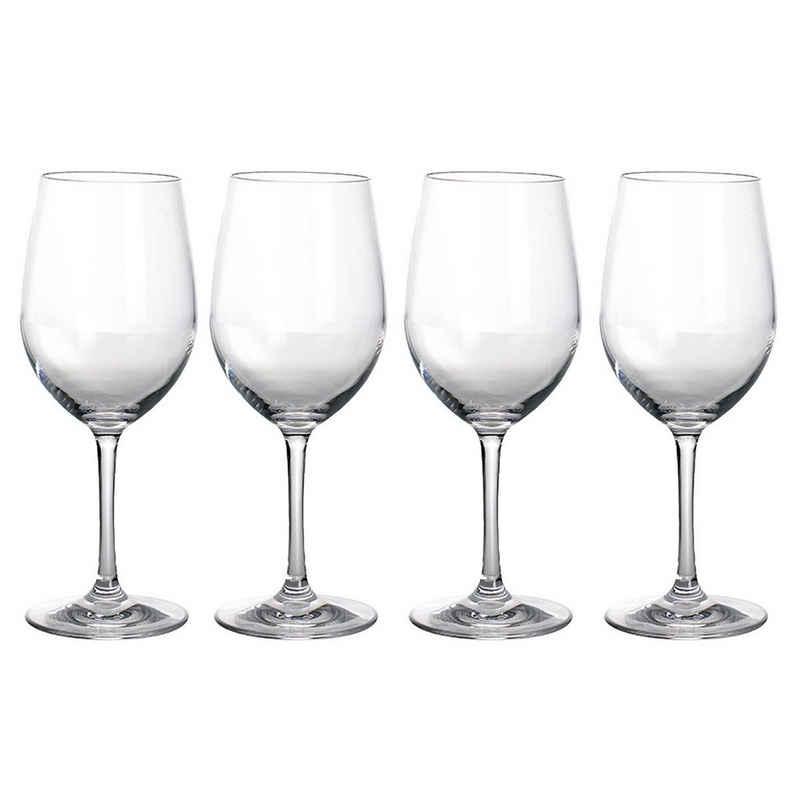 GIMEX Weißweinglas »4 x Weißweinglas aus bruchfestem Polycarbonat - 380ml - Kunststoffgläser«, Kunststoff