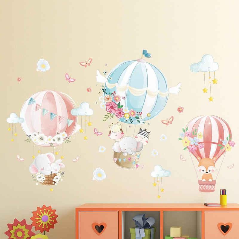 CreateHome Wandtattoo »Heißluftballon«, rückstandslos entfernbar selbstklebend