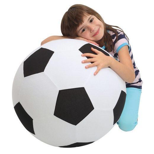 elasto Spielball »Giant«, Aufblasbarer Rießenfußball mit Fleecebezug