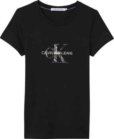 Calvin Klein Jeans Rundhalsshirt »Seasonal Filled Monogram Tee« mit CK Monogramm Logo in trendigem Print