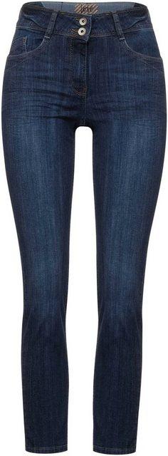 Hosen - Cecil Slim fit Jeans »Style Toronto« mit leichtem Used Effekt ›  - Onlineshop OTTO