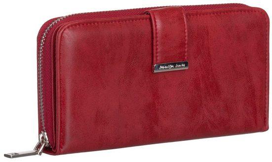 Jennifer Jones Geldbörse, Damen Geldbörse klappbar mit Reißverschluss Portemonnaie Geldbeutel