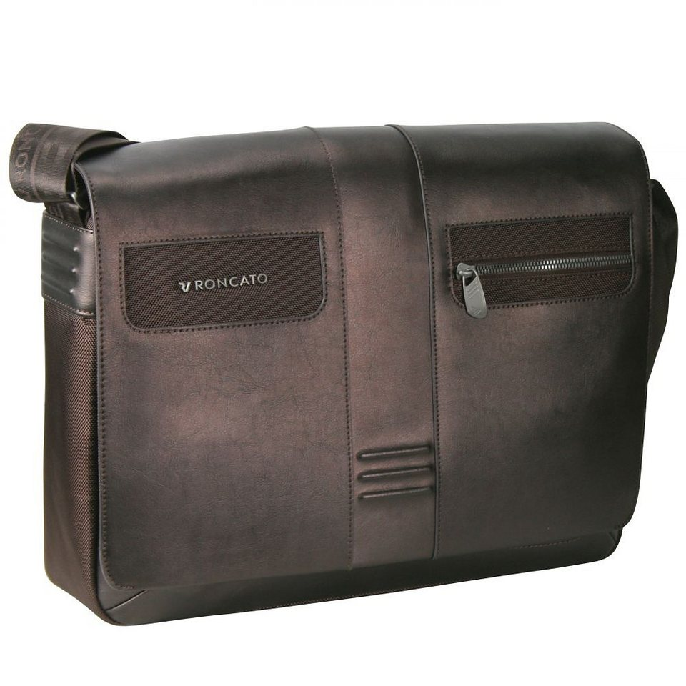 Roncato Heritage Messenger 41 cm Laptopfach in bronzo brown