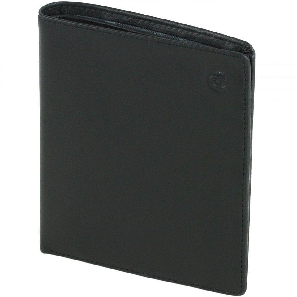 Esquire Logo Kreditkartenetui Leder 10,5 cm in schwarz