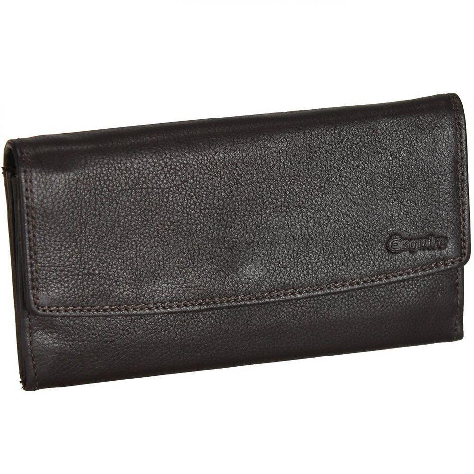 Esquire Duo Damengeldbörse Leder 18,5 cm in brown
