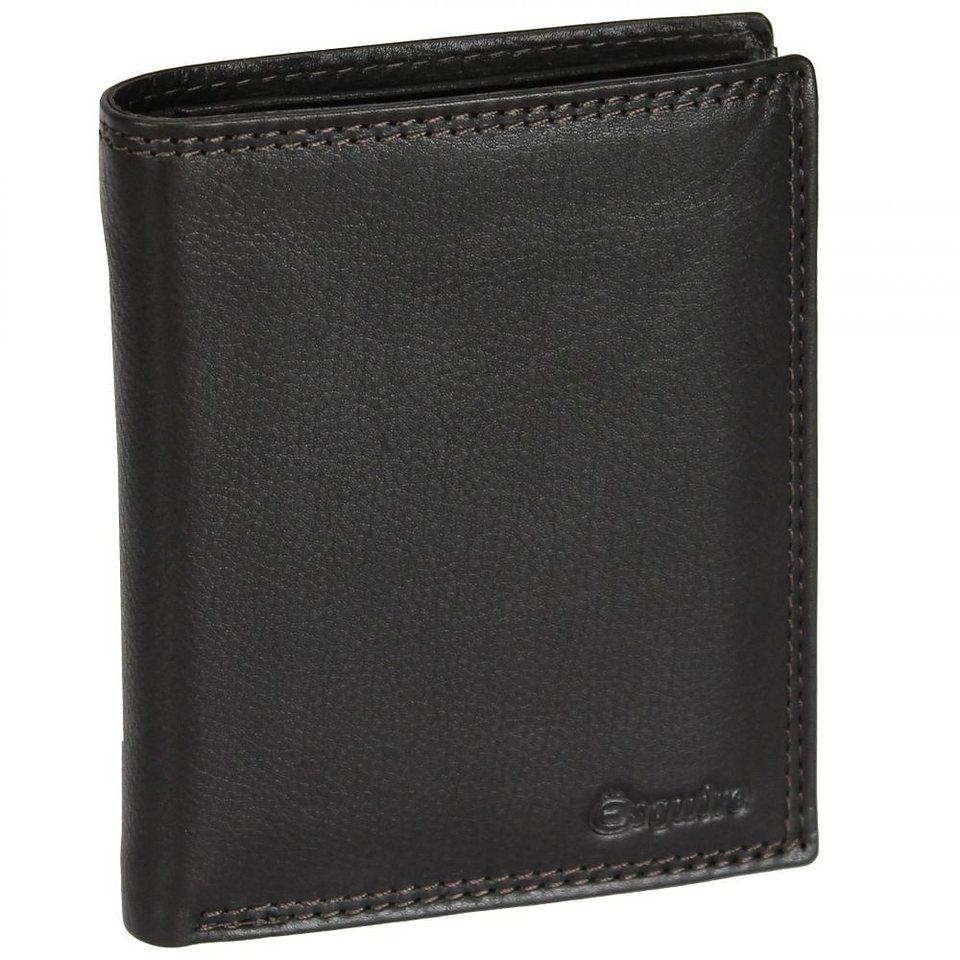 Esquire Duo Geldbörse Leder 10 cm in brown