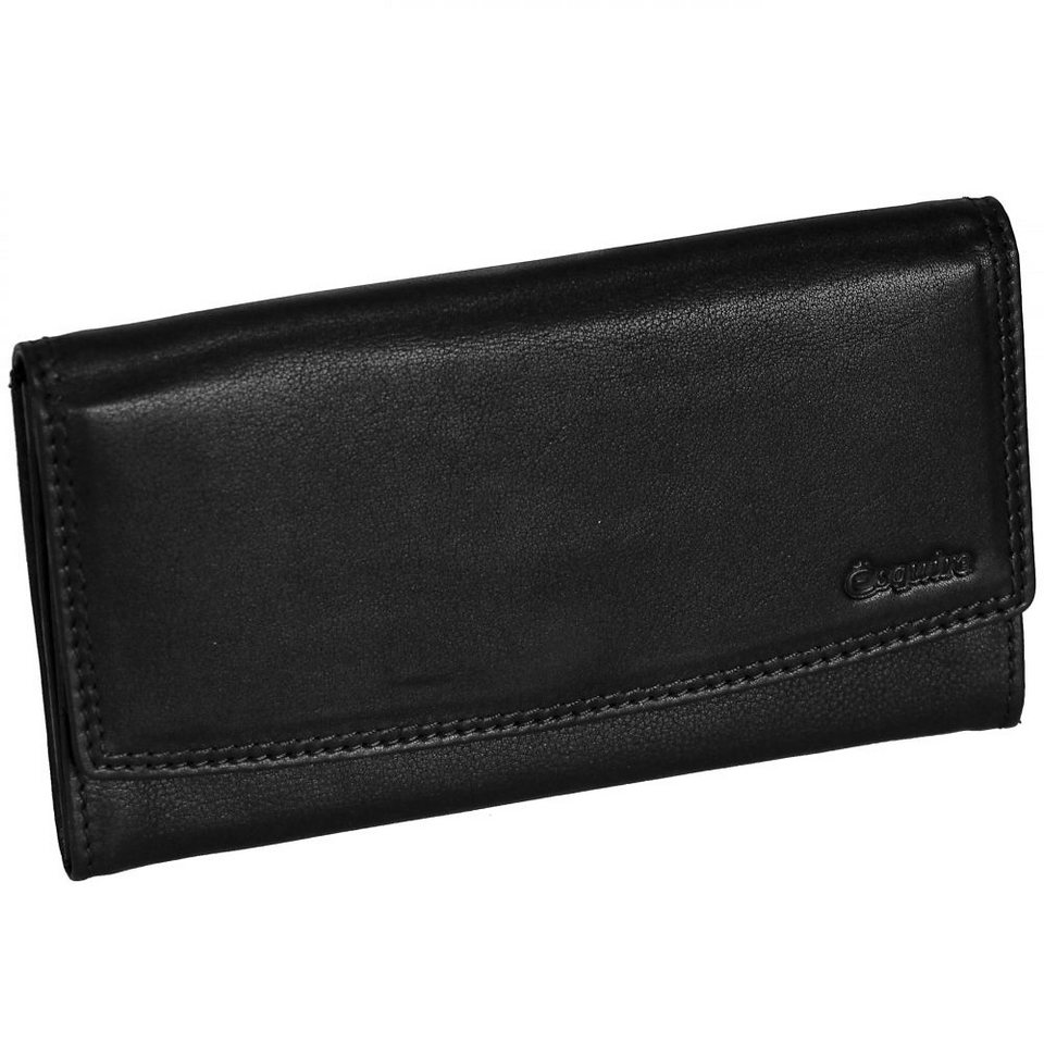 Esquire Duo Damengeldbörse Leder 17 cm in black