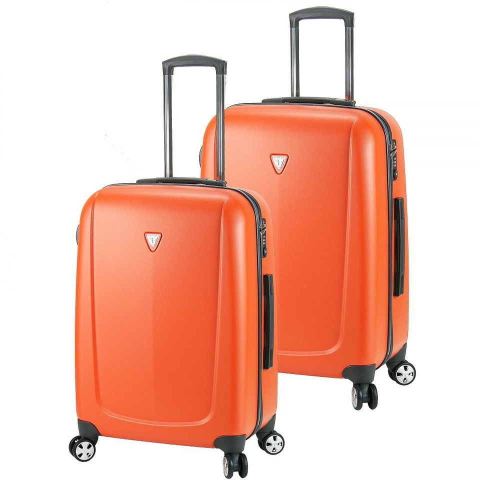 Roncato Colorado 4-Rollen Trolley Set 2tlg. in arancio