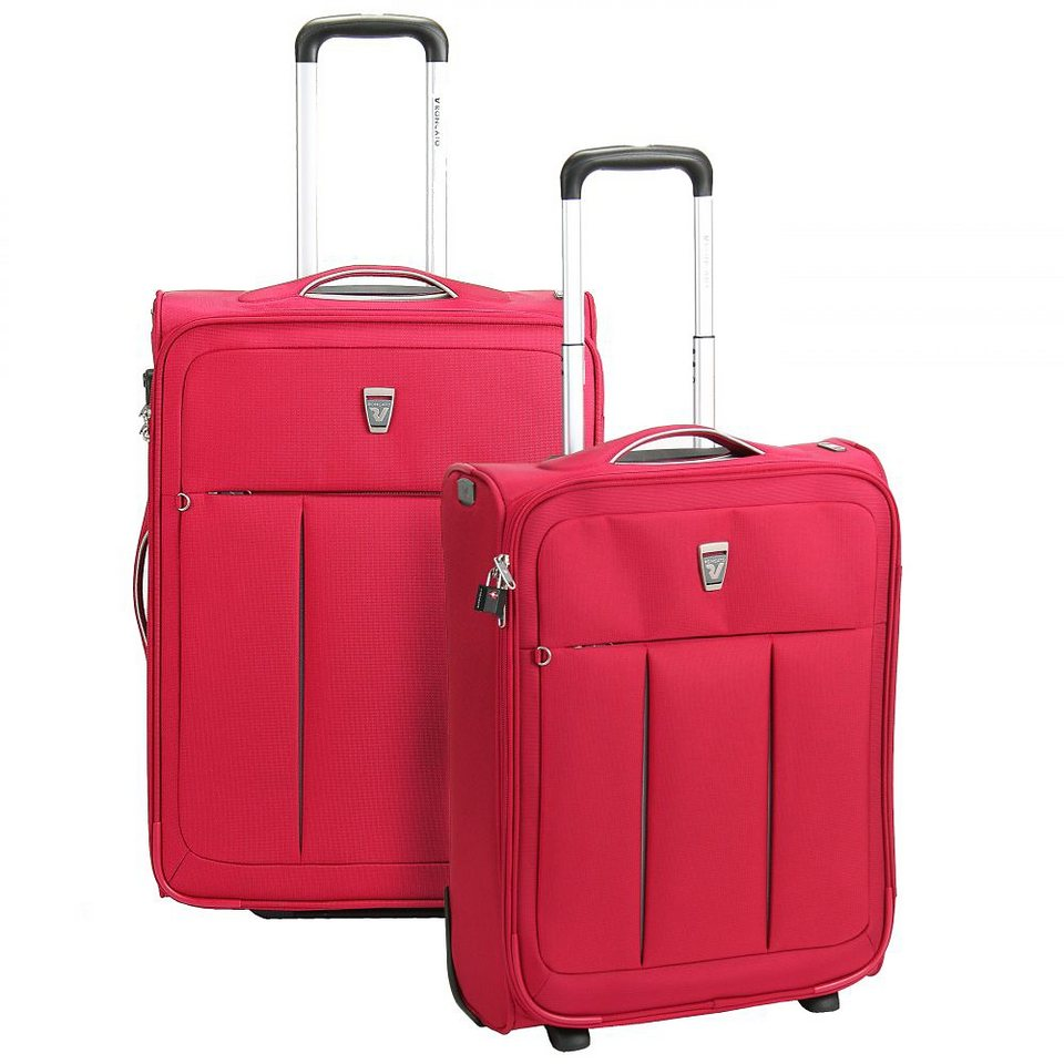 Roncato Polylight 2-Rollen Trolleyset 2tlg. in fucsia