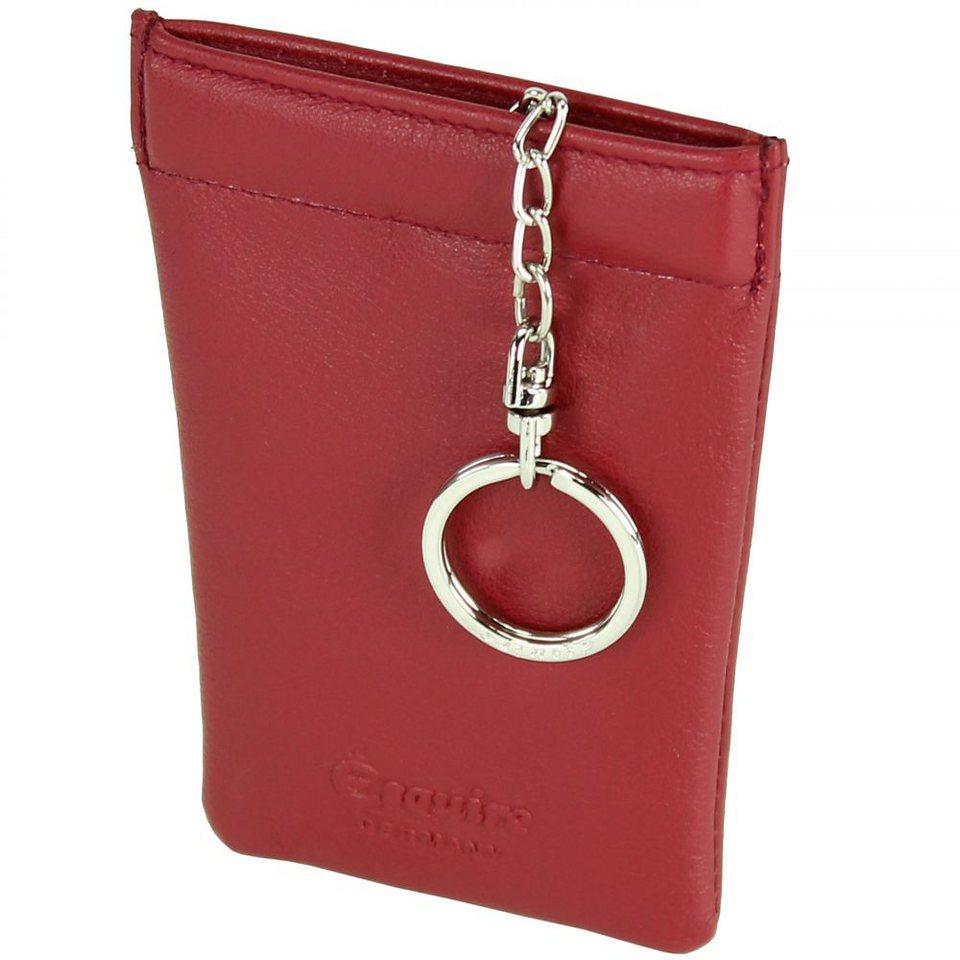 Esquire Logo Schlüsseletui Leder 8 cm in rot