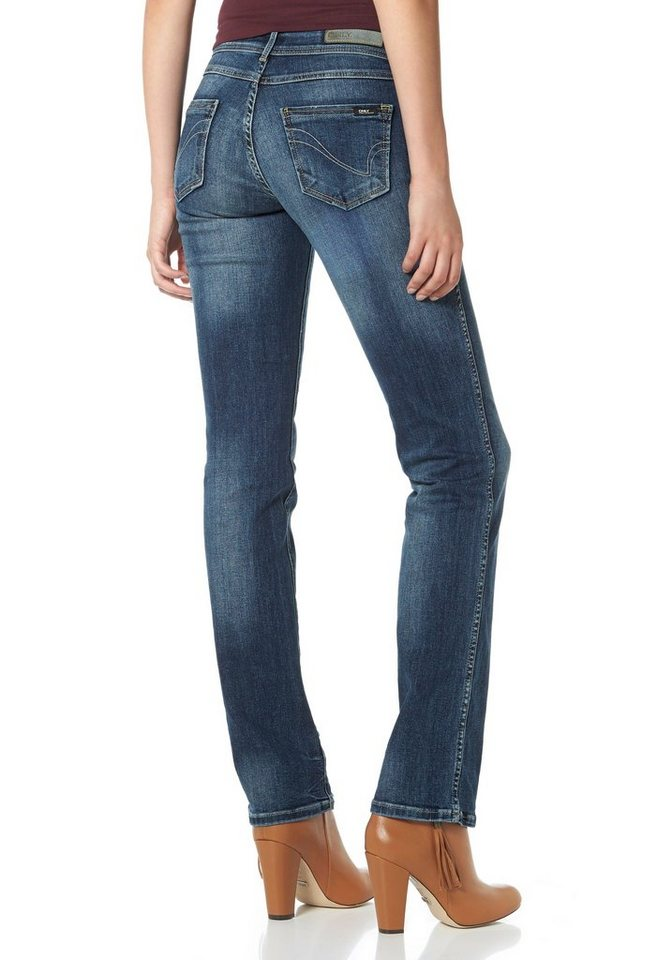 Only Gerade Jeans »Straight Low Auto« in dark-blue-used
