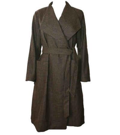 Herrlicher Wollmantel »Herrlicher Dalida Mantel klassischer Damen Woll-Mantel mit breitem Revers Herbstmantel Braun«