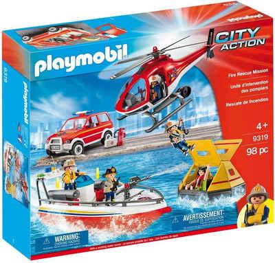 Playmobil® Konstruktions-Spielset »Playmobil City Action Feuerrettungsmission 9319, «