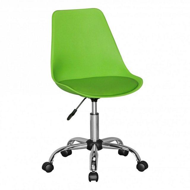 Sitzmöbel - FINEBUY Drehstuhl »SuVa5077 1« HAINAN Drehstuhl mit Kunstleder Sitzfläche Design Drehsessel Wartezimmerstuhl ist höhenverstellbar Schreibtischstuhl mit Rückenlehne Bürostuhl Jugendstuhl mit Schalensitz  - Onlineshop OTTO