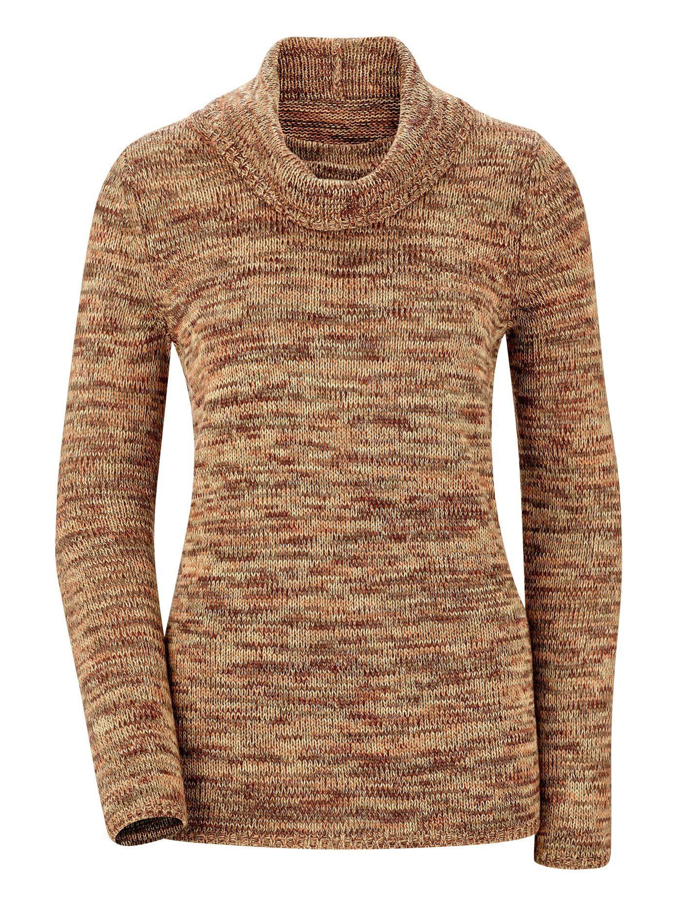 Collection L. Pullover aus weichem Melangegarn, Passgenau gestrickt online kaufen | OTTO
