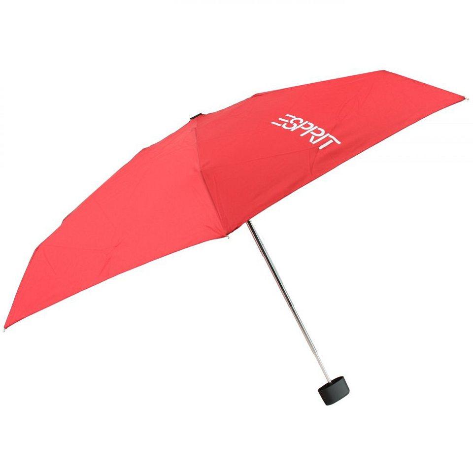 Esprit Esbrella Taschenschirm Softbox 18 cm in flagred