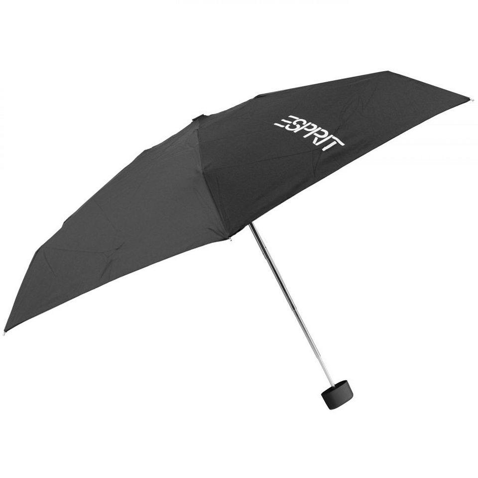 Esprit Esbrella Taschenschirm Softbox 18 cm in black