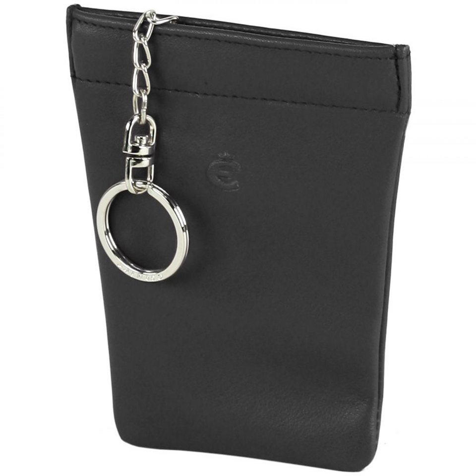 Esquire Logo Schlüsseletui Leder 9 cm in schwarz