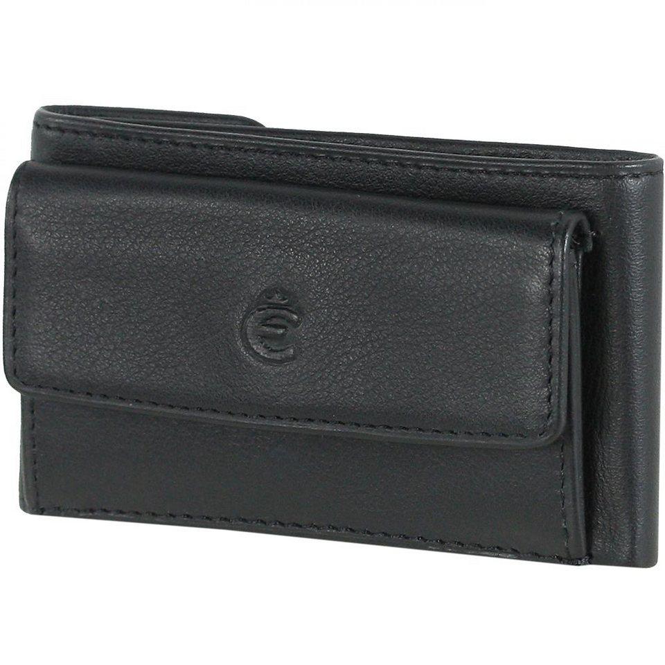 Esquire Logo Geldbörse Leder 9,5 cm in schwarz