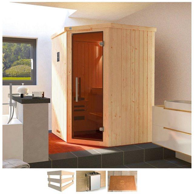 Saunen und Zubehör - weka Sauna »Kiruna«, BxTxH 144 x 144 x 199 cm, 68 mm, 3,6 kW Bio Ofen mit ext. Steuerung  - Onlineshop OTTO