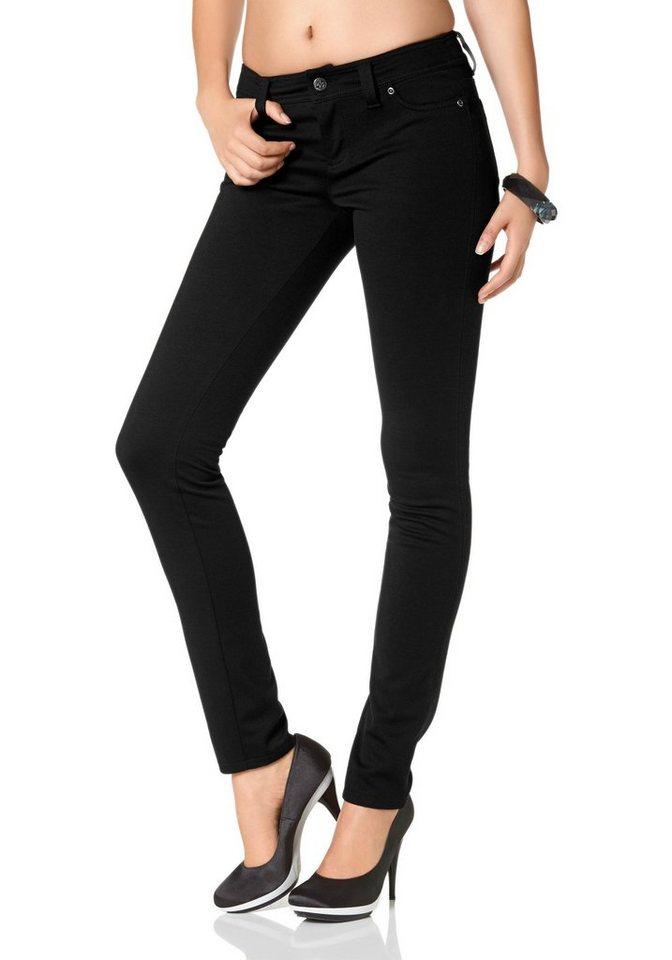Laura Scott Jerseyhose Skinny auch in Kurzgrößen in schwarz