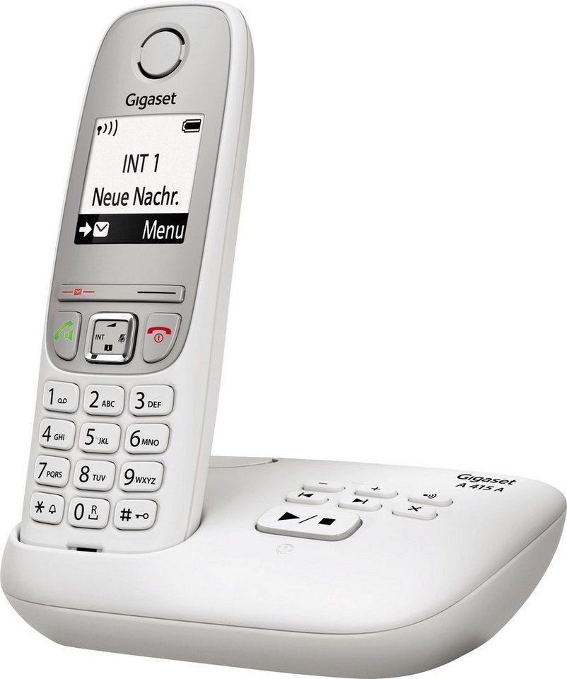 Gigaset A415A Schnurloses DECT Telefon mit AB in weiß