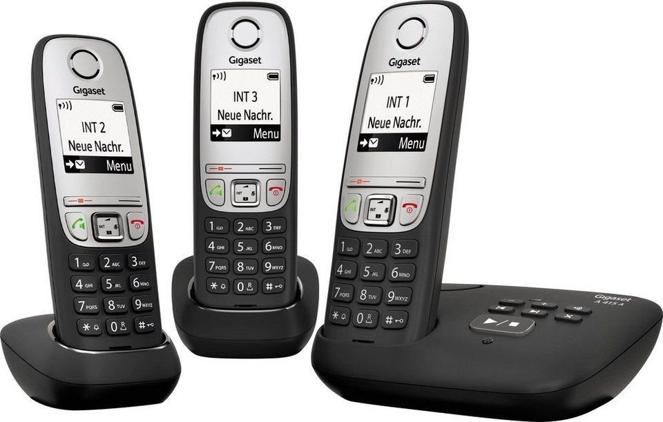 gigaset a415a trio schnurloses dect telefon mobilteile. Black Bedroom Furniture Sets. Home Design Ideas