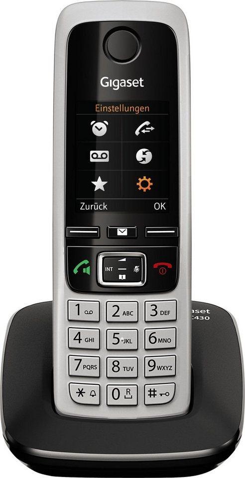 Gigaset C430 Schnurloses DECT Telefon in schwarz-silber