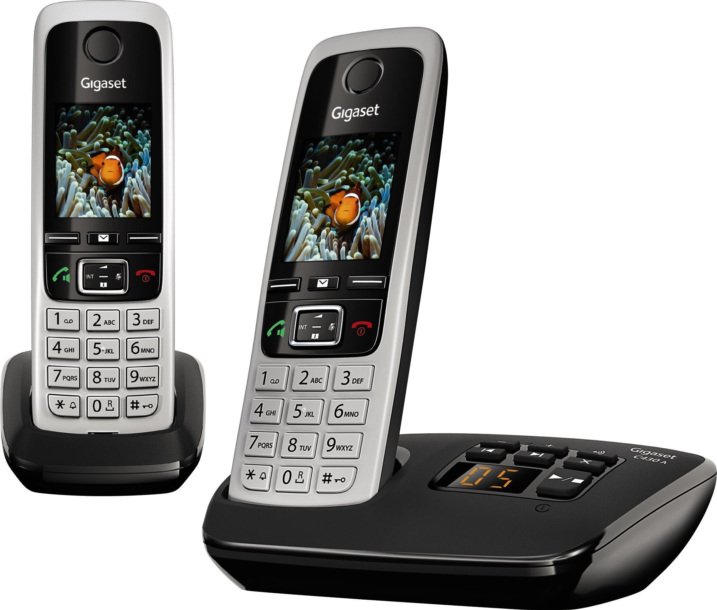 »C430A DUO« Schnurloses DECT-Telefon (Mobilteile: 2)