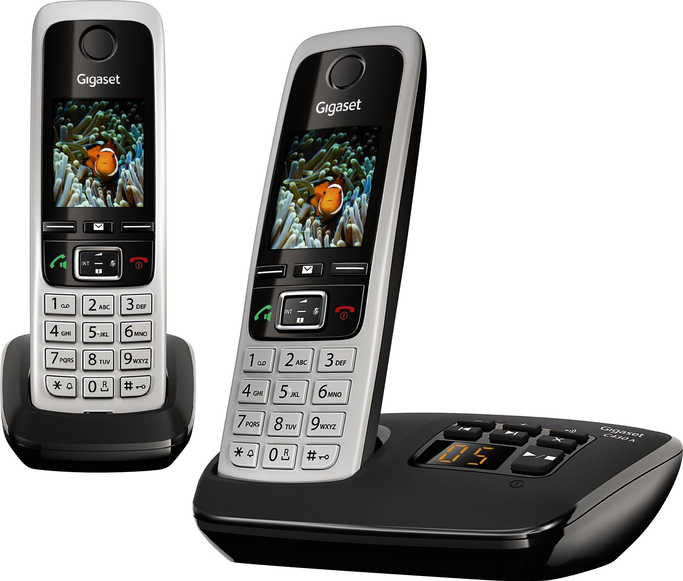 Gigaset C430A DUO Schnurloses DECT Telefon-Set mit AB