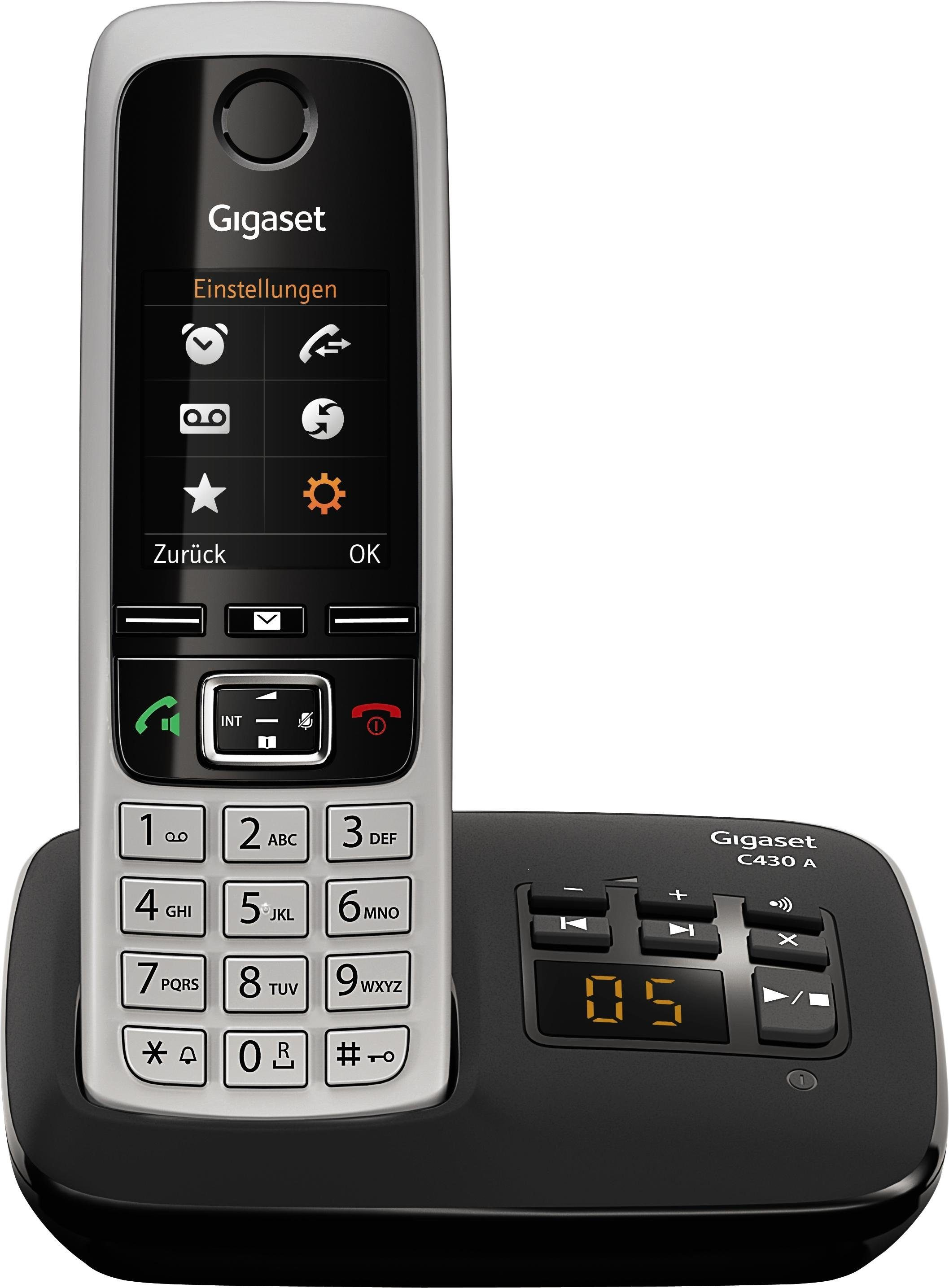 Gigaset C430A Schnurloses DECT Telefon mit AB