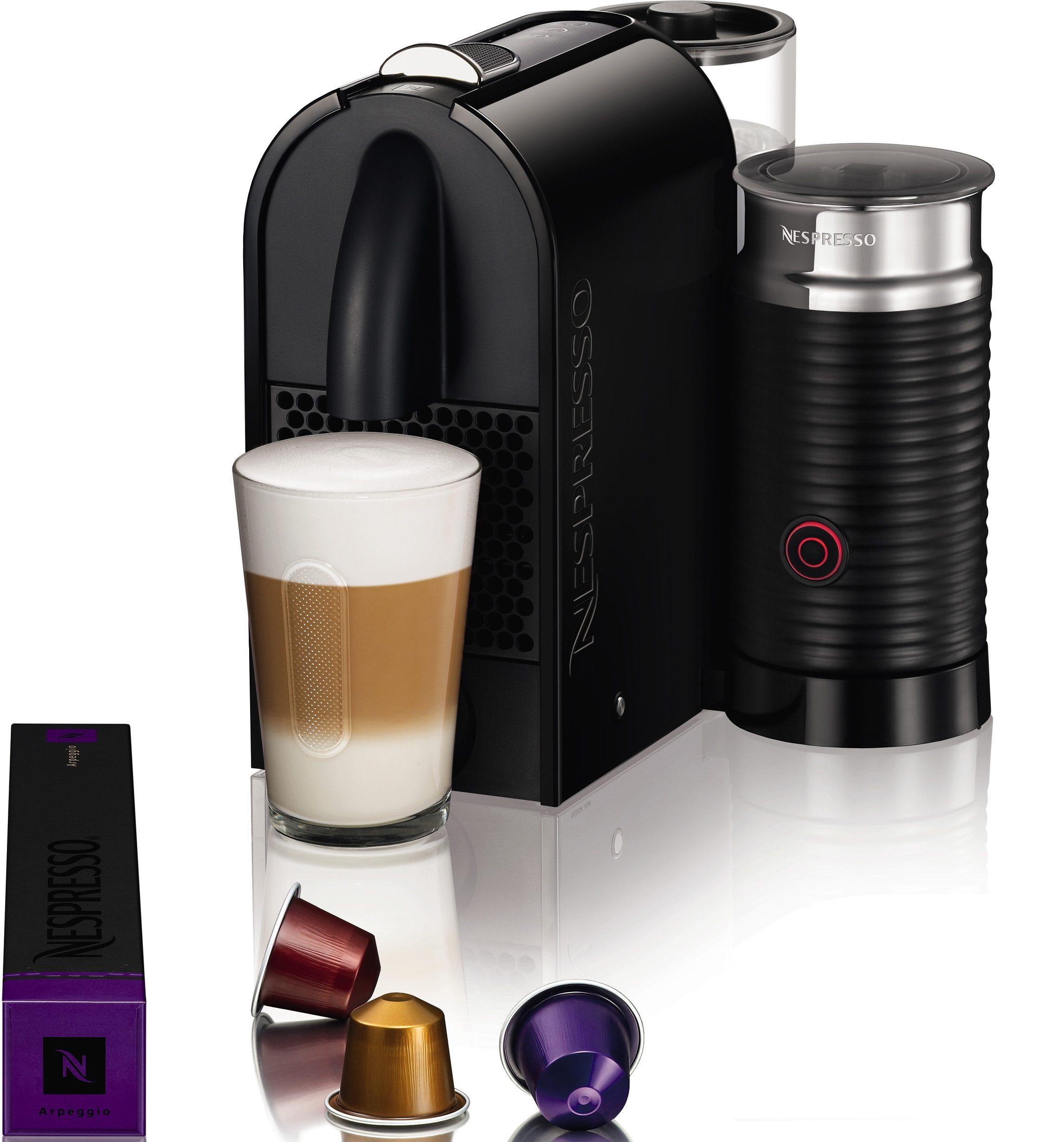Nespresso Kapselmaschine NESPRESSO Umilk EN 210.BAE, mit integriertem Milchaufschäumer