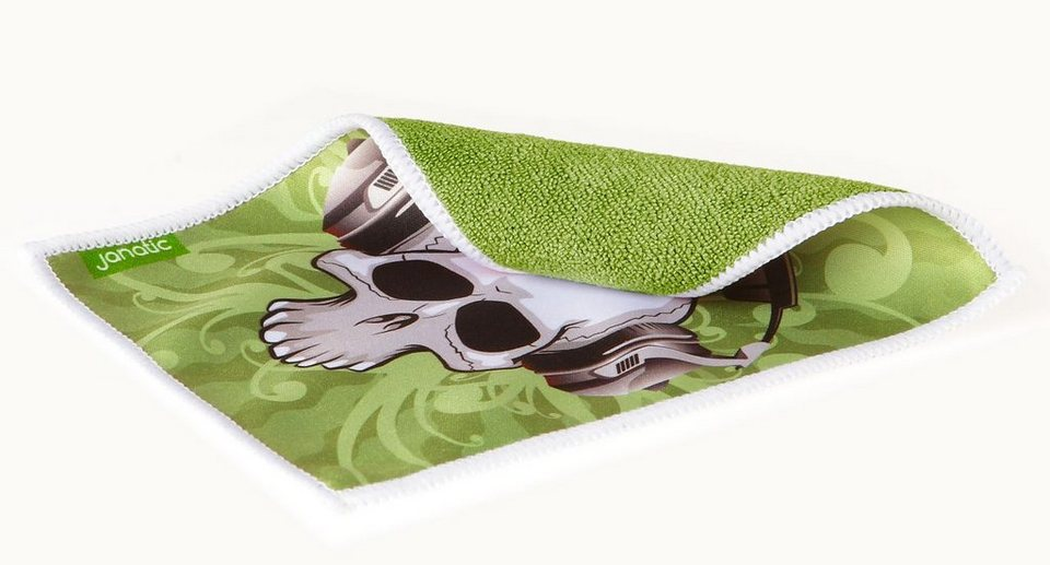 janatic Reinigungstuch »Coolnatic Beat Skull« in schwarz