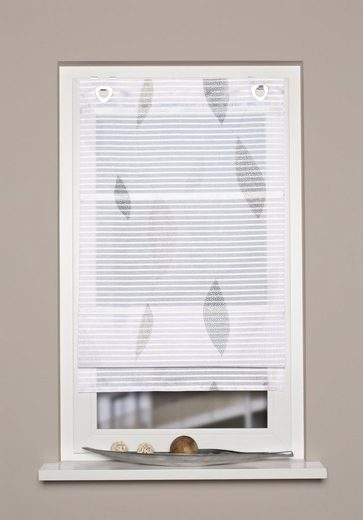 Raffrollo »PAOLO«, HOME WOHNIDEEN, mit Ösen, freihängend, Querstreifen Digitaldruck
