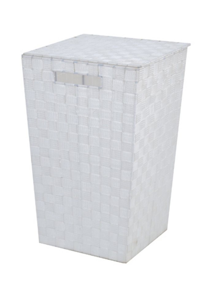 Wäschebehälter, Franz Müller Flechtwaren in weiß