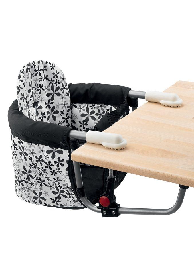 CHIC4BABY, Tischsitz mit universellem Befestigungssystem, schwarz/weiß »RELAX«