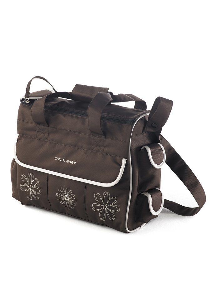 CHIC4BABY, Wickeltasche mit umfangreicher Ausstattung, braun »LUXURY« in braun