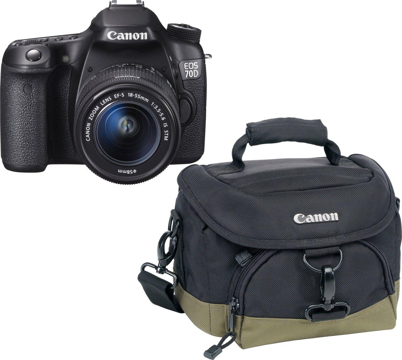 Canon EOS 70D Spiegelreflex Kamera, EF-S 18-55 ...