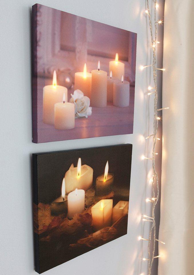 SET LED Leuchtbilder Wandbilder Mit Tuschend Echtem