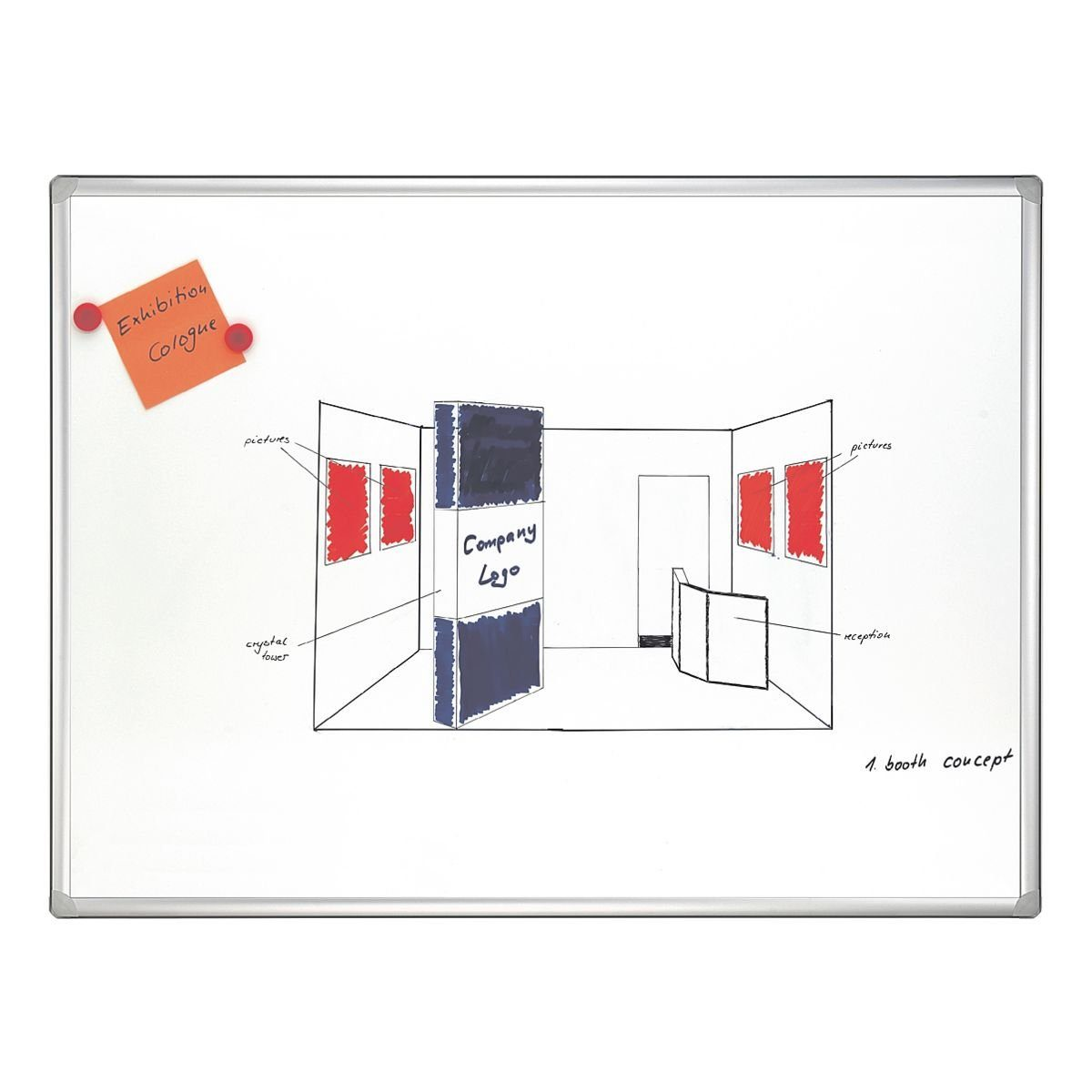 FRANKEN Whiteboard emailliert, 180 x 90 cm »PRO SC8207«