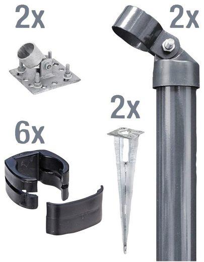 GAH Alberts Eckpfosten »Fix-Clip Pro®«, (Set), für Maschendrahthöhe 102 cm, zum Aufschrauben