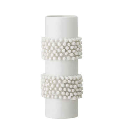 Bloomingville Dekovase »Vase weiß«, Ø 8,5 cm, Blumenvase, Keramik, dänisches Design